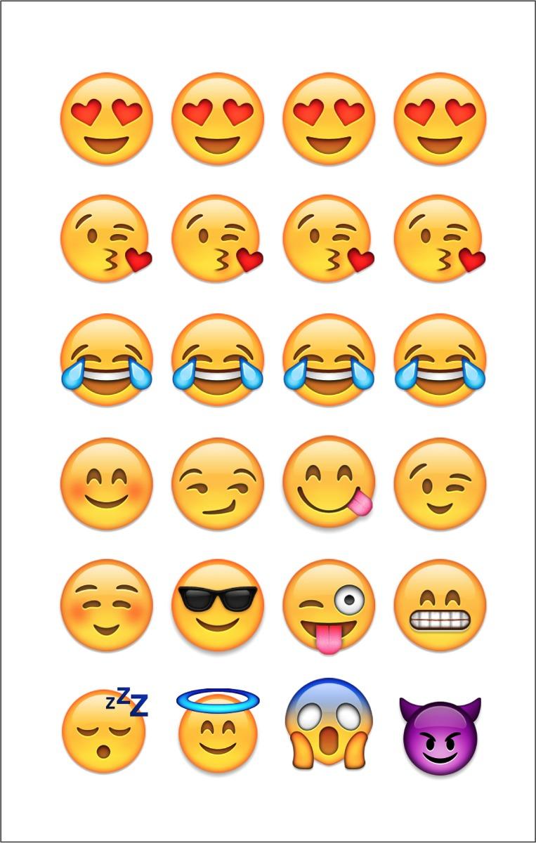 Armario Garaje Plastico ~ 10 Cartelas Com 24 Adesivos 2cm Emoji Emoticons Whatsapp R$ 10,99 em Mercado Livre