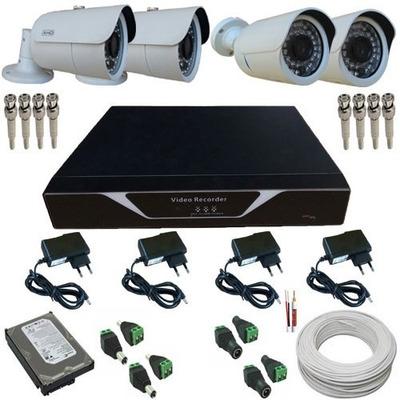 Kit Residencial 02 Câmeras Ahd + 02 Bullet 800 Linhas + Dvr