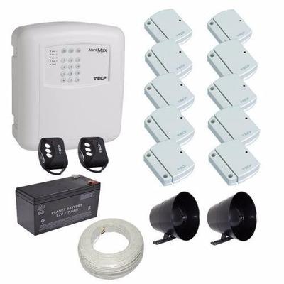 Kit Alarme Para Casa + 10 Sensores Sem Fio + Acessórios- Ecp