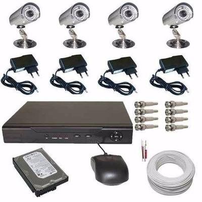 Kit 4 Câmeras Infravermelho Residenciais E Comerciais- Cftv
