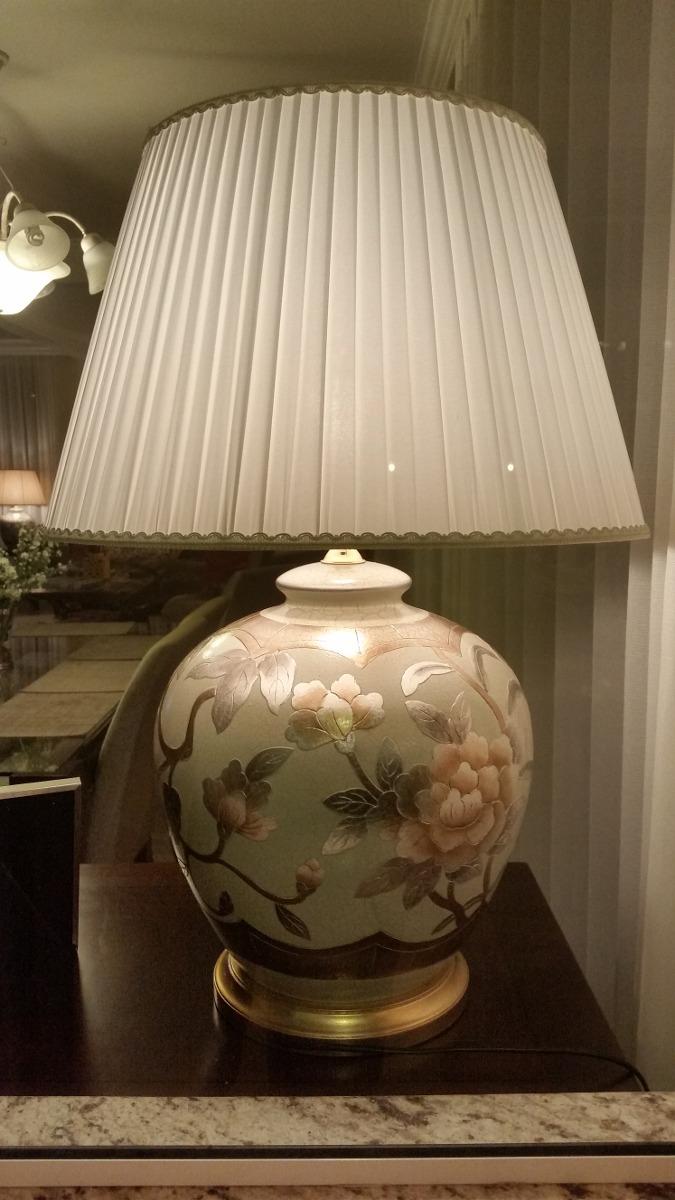 Abajur Classico Cerâmica Pintado A Mão Para Sala Ou Quarto  ~ Abajur Ou Luminaria Para Quarto