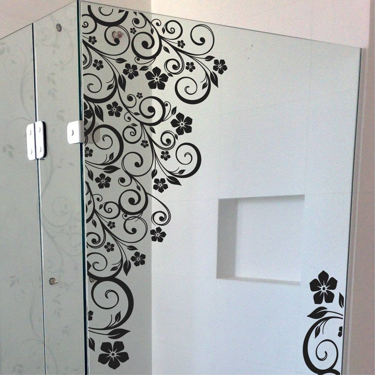 Armario Para Consultorio Odontologico Com Pia ~ Adesivo Box Banheiro Floral Parede Blindex R$ 96,15 em