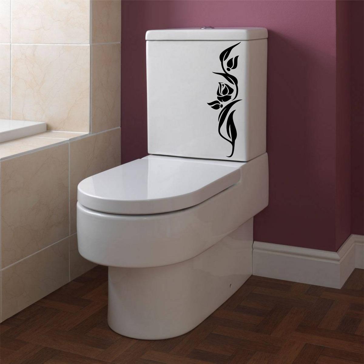Adesivo De Parede Banheiro Box Vaso Assento Sanitário R$ 6 99 em  #412624 1200x1200 Assento De Banheiro Para Idoso