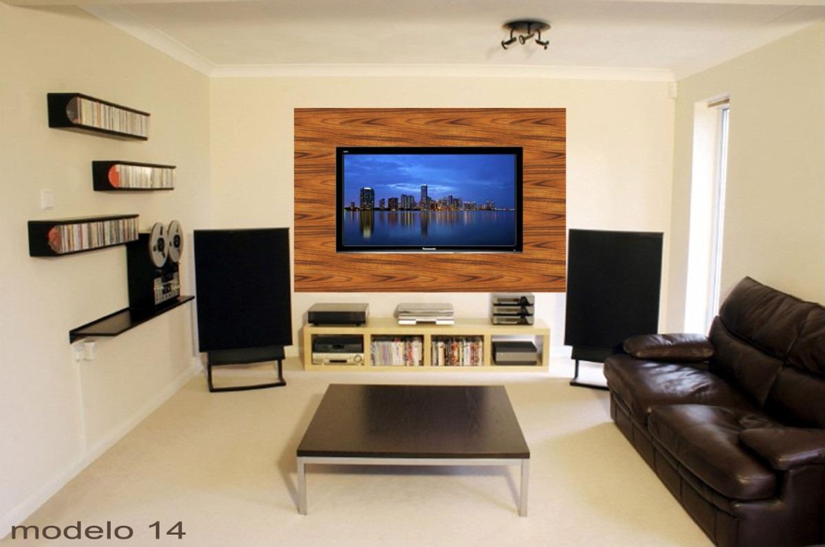 Adesivo De Parede Painel Tv Lcd Textura De Madeira R$ 37 00 em  #264DA5 1200x796