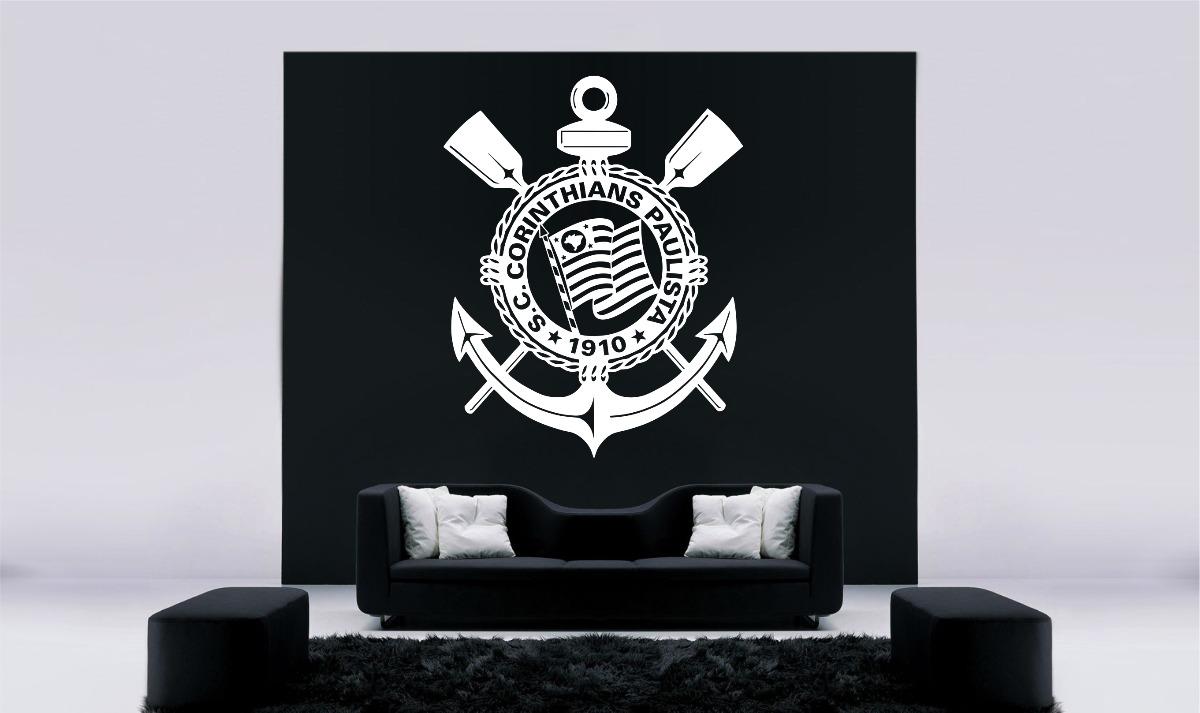 Aparador Vintage ~ Adesivo Decorativo Parede Bras u00e3o Corinthians Tim u00e3o Fiel R$ 26,98 em Mercado Livre