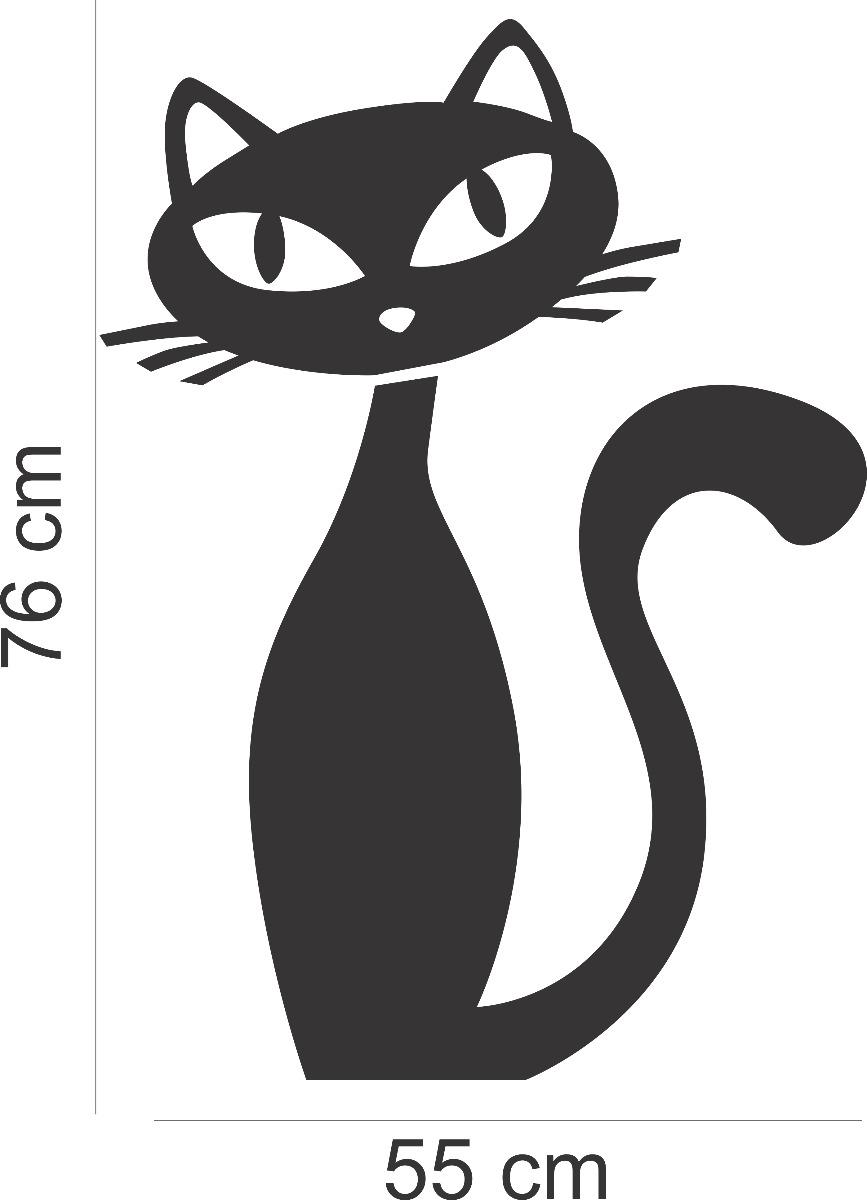 Artesanato Facil Rapido E Lucrativo ~ Adesivo Decorativo Parede Geladeira Cozinha Gato Gatinho R$ 23,99 em Mercado Livre