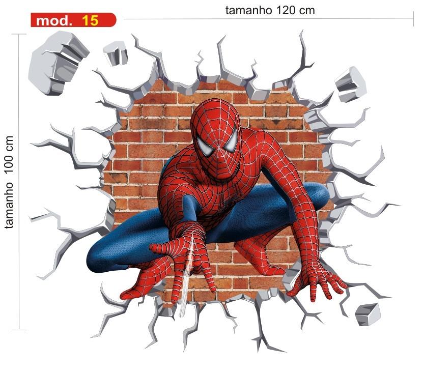 Adesivo Homem Aranha Infantil Papel Parede Herois Buraco M15 R$ 89,90 em Mercado Livre