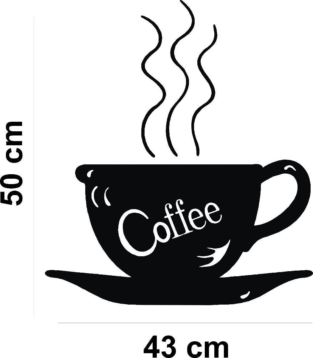 Adesivo Mesa De Jantar ~ Adesivo Decorativo De Parede Cozinha Cafe Coffee Pia Armário R$ 18,98 em Mercado Livre