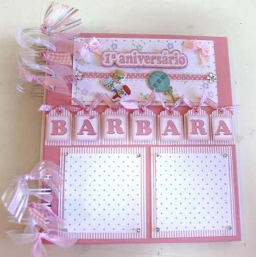 album fotos mensagens assinatura aniversário scrapbook