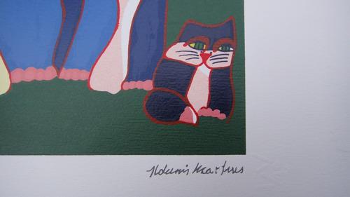 aldemir martins - família de gatos - serigrafia espetacular!
