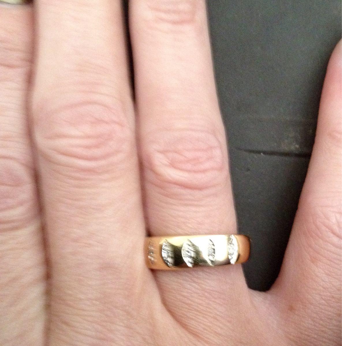 Anel aparador De Alianças Vivara Ouro18k Diamantes! R$ 520,00 em Mercado Livre