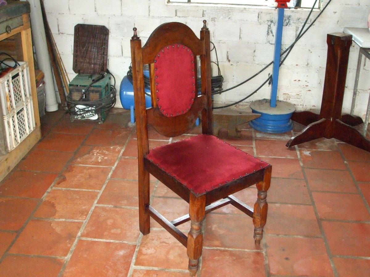Antiga Cadeira Em Madeira De Lei Colonial R$ 180 00 em Mercado  #9F2C35 1200x900