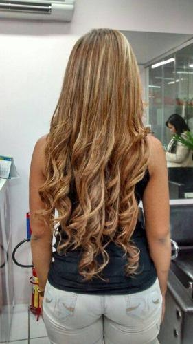 aplique tic tac loiro dourado, igual cabelo humano!!!