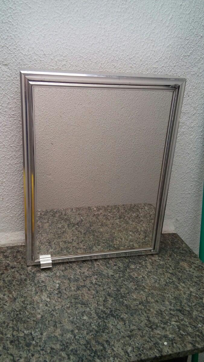 Armário De Alumínio Para Banheiro modelo Sobrepor  R$ 39,90 em Mercado Livre -> Armario Banheiro Sobrepor