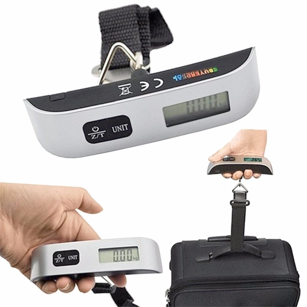 balança digital bolsa bagagem mala mão e termômetro lcd 50kg #975A34 1024x1024 Balança Digital Banheiro Mercado Livre
