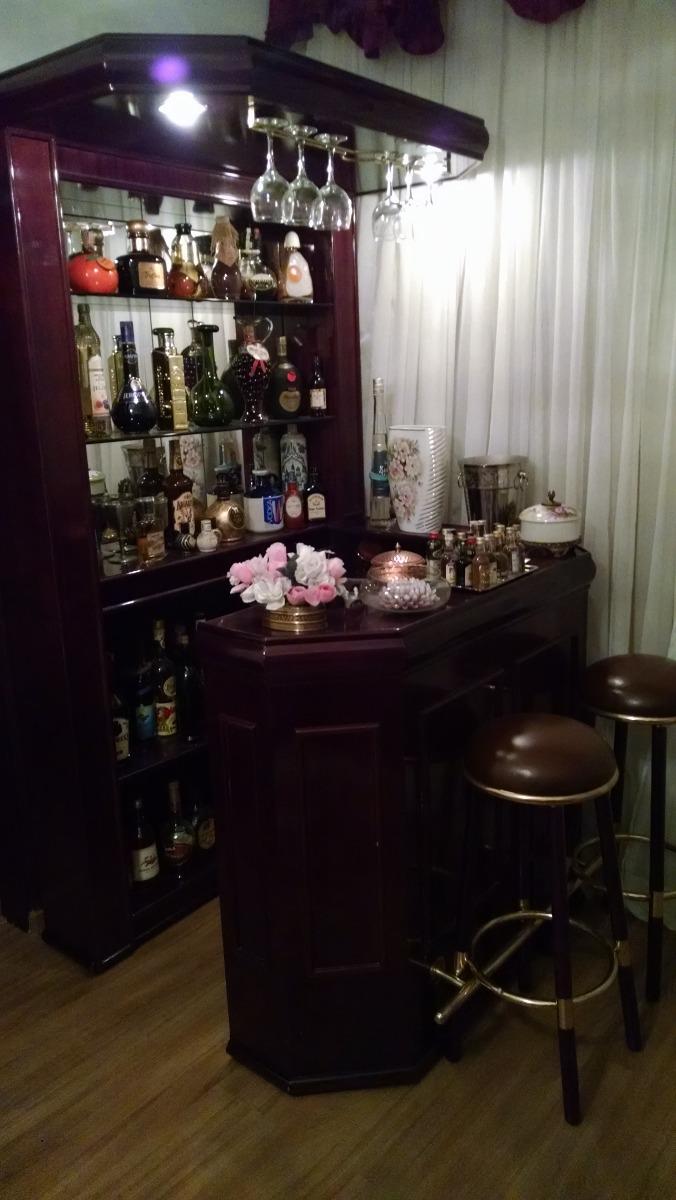 Fotos De Barzinho Na Sala De Estar ~ Bar Em Madeira Mogno  R$ 3500,00 em Mercado Livre