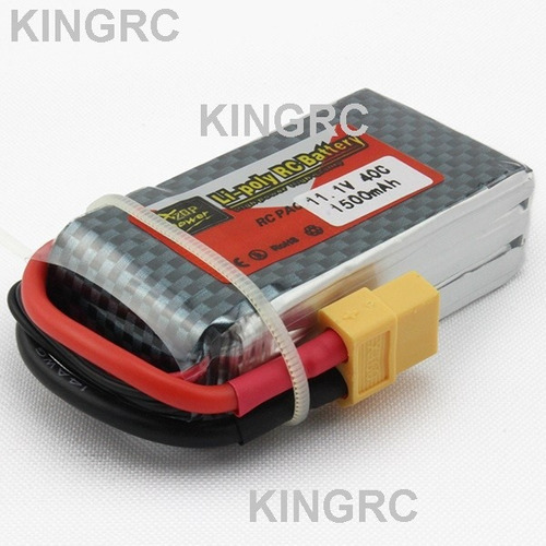 Bateria Lipo 3s 11.1v 1500mah 40c P/ Aeromodelo Drone Racing - R$ 78