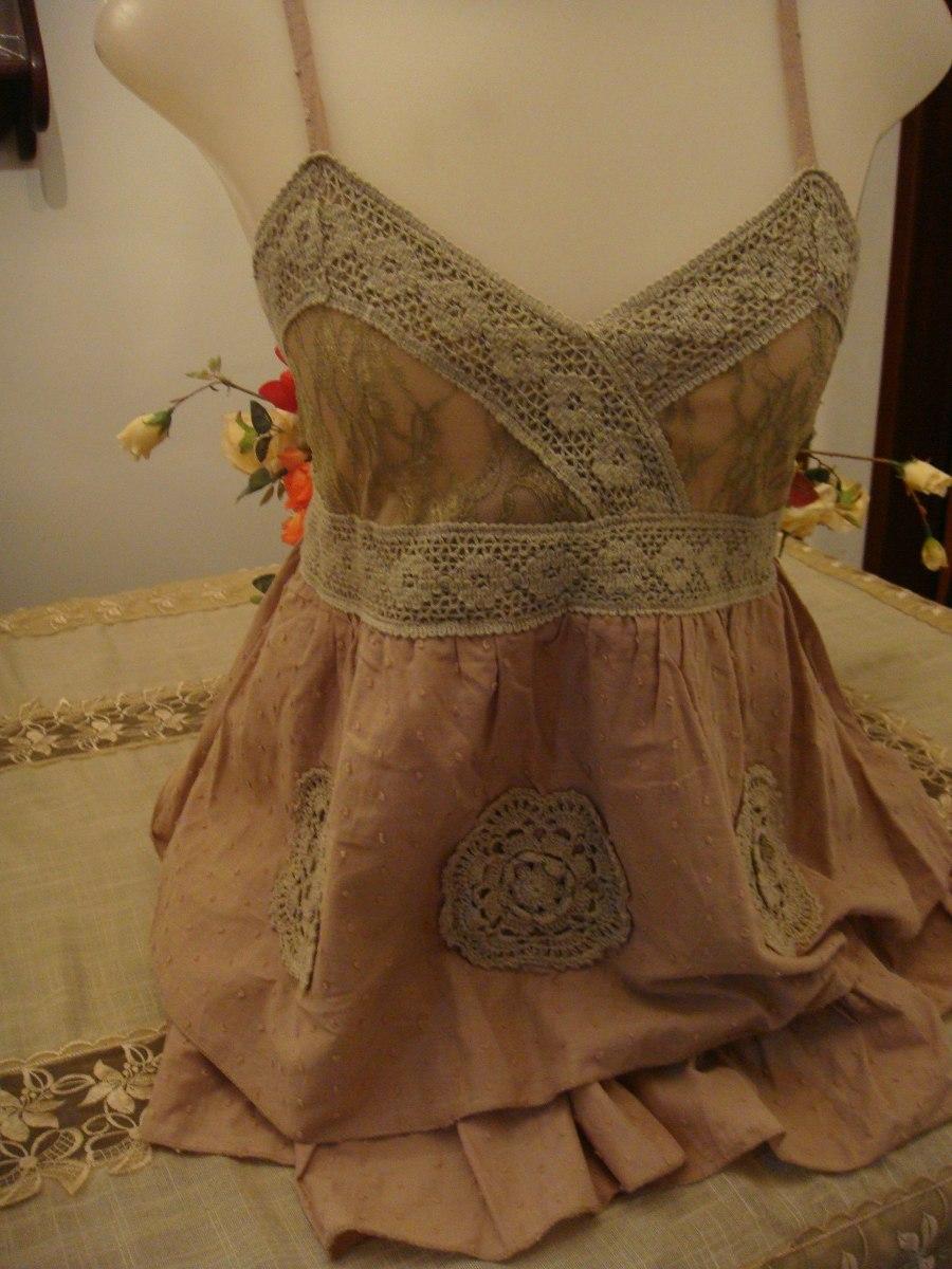 blusa alcinha bege com babado bordado renda guippir lastex