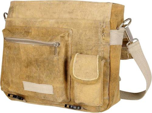 bolsa carteiro top largadão lona reciclada 100% original