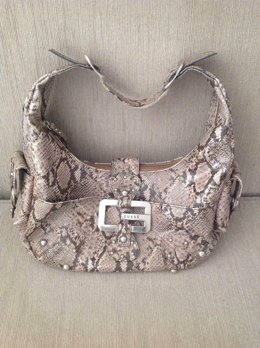 Bolsa Feminina De Couro Guess : Bolsa guess feminina cobra usada r em mercado livre