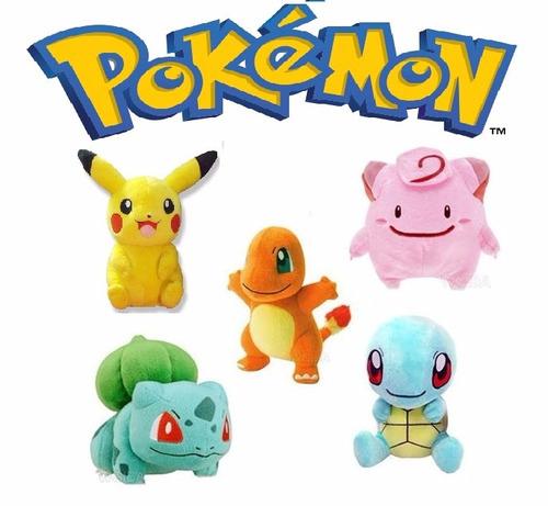 Mlb 799468482 Boneco Pokemon Pikachu Charmander Bulbasaur Squirtle Jm