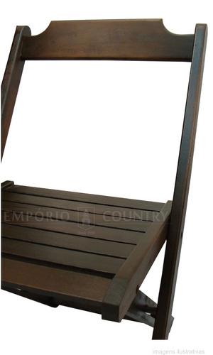 cadeira dobrável em madeira maciça