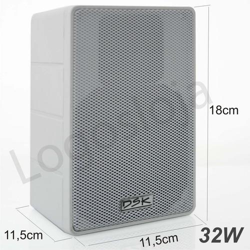 caixa de som acústica dsk com suporte para som ambiente