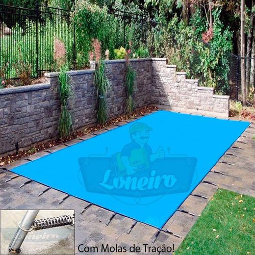 capa de piscina 6,5m x 3,5m lona proteção cobertura tela