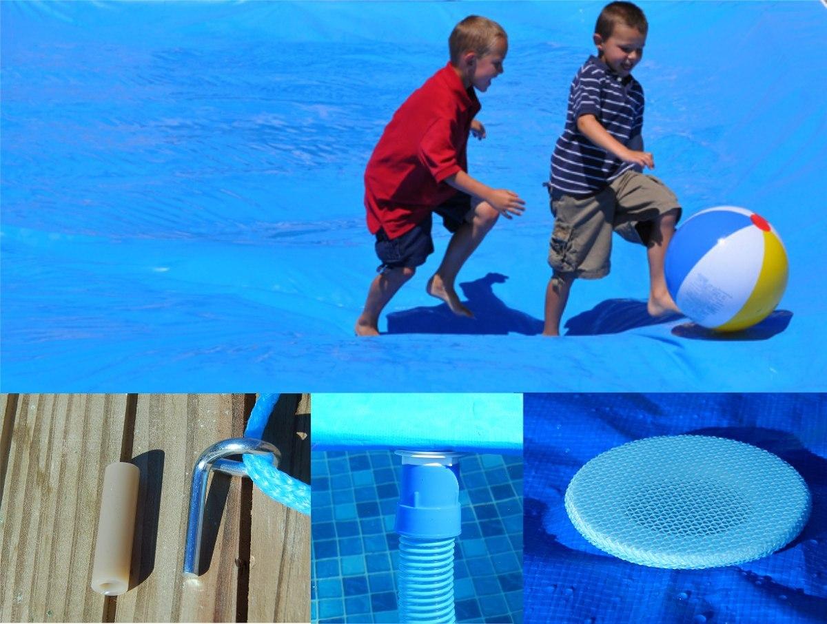 Capa forte piscina 7m x 4m lona pino a o dreno c tela for Piscina 4 x 2