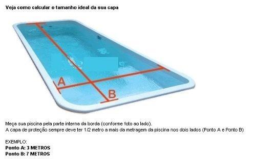 Capa t rmica bolha flutuante piscina 7 0x3 5 metros for Piscina 5 metros diametro