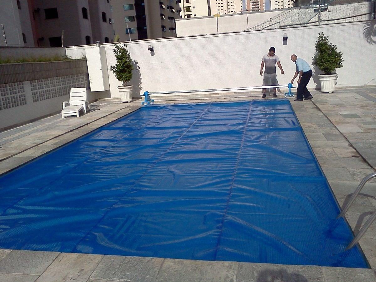 Capa t rmica bolha flutuante piscina 9 0x4 5 metros for Piscina 5 metros diametro