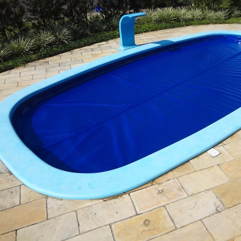 Capa manta t rmica bolha flutuante para piscina 4x4 for Piscina 5 metros diametro