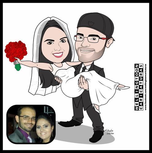 caricaturas casamento, aniversários, namorados, divertidas