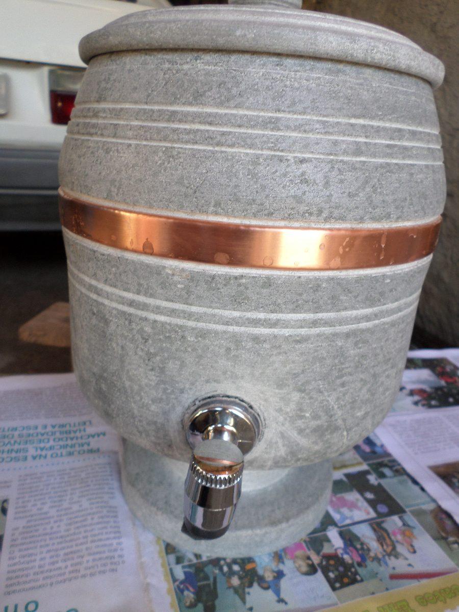 Carote Pedra Sabão 4l Com Aro De Metal Direto Da Fabrica  R$ 129,90 em Merc -> Cuba Para Banheiro Direto Da Fabrica