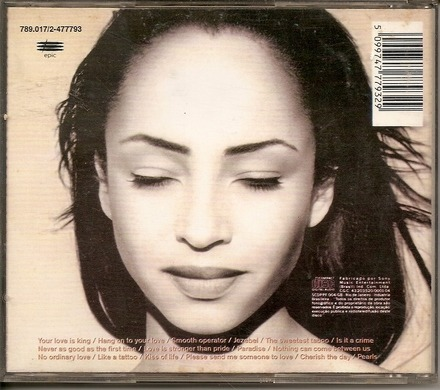 Cd Sade - The Best Of (smooth Operator , No Ordinary Love)