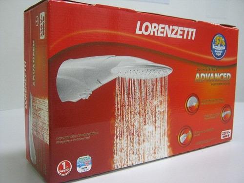 chuveiro ducha advanced eletrônica lorenzetti 220v