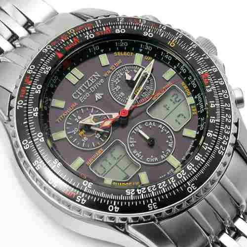 citizen jr3034 navihawk titanium eco-drive jr3034-59e