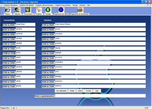 código-fonte de sistema completo para academia