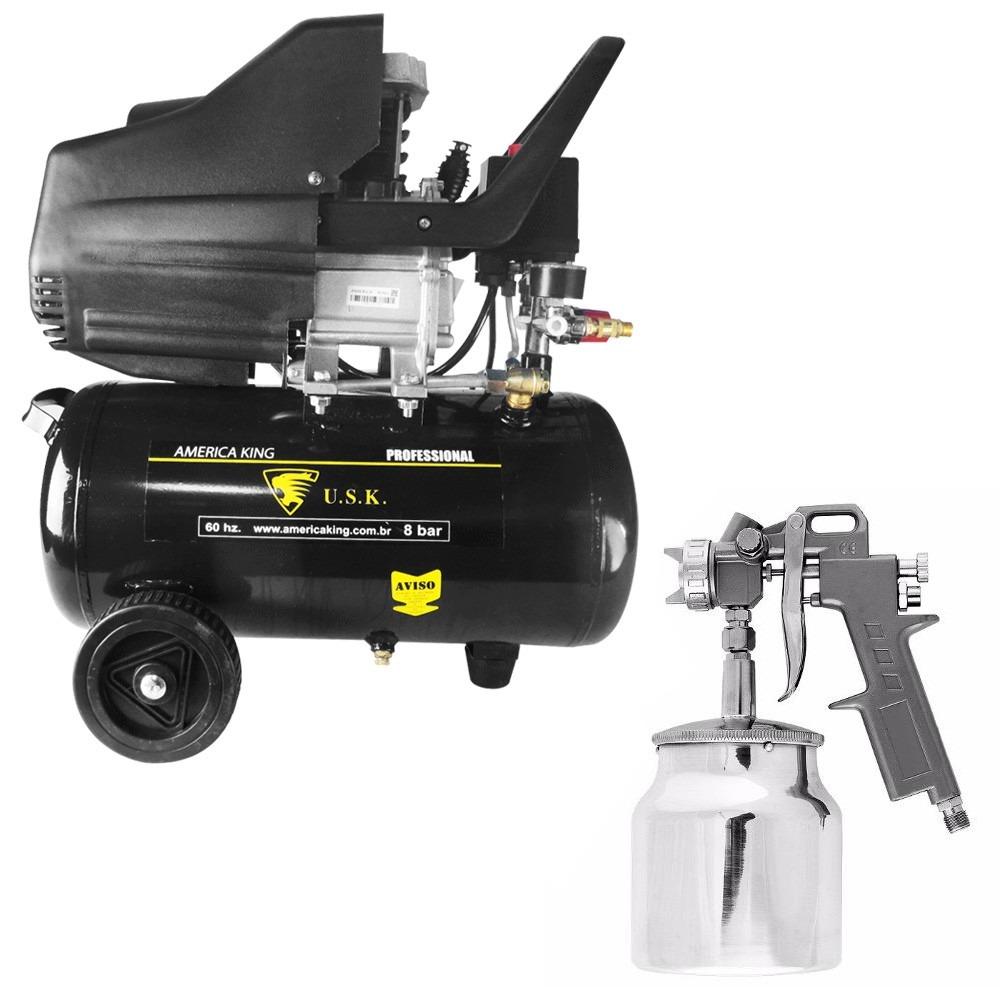 Compressor ar 2hp 220v ak 4724 pistola pintura 1 5mm hp - Pistola pintura compresor ...