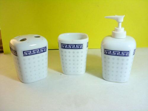 Conj; Para banheiro Porcelana Antigo Decorado  R$ 30,00 em Mercado Livre -> Banheiro Antigo Decorado