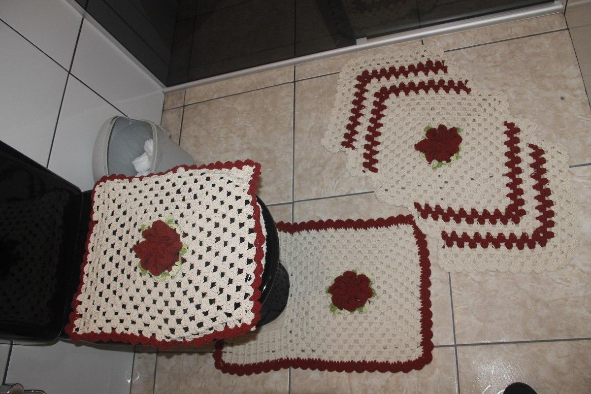 Conjunto De Banheiro Em Crochê **pronta Entrega** R$ 97 90 em  #623531 1200 800