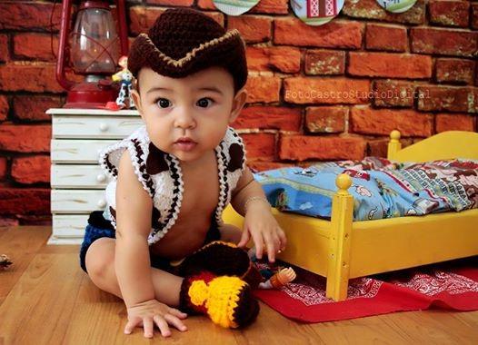 Conjunto Newborn De Crochê Woody - Toy Story - Art Crochê - R$ 99,90 ...