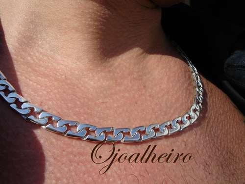 corrente estilo inconfundível  prata maciça 950k