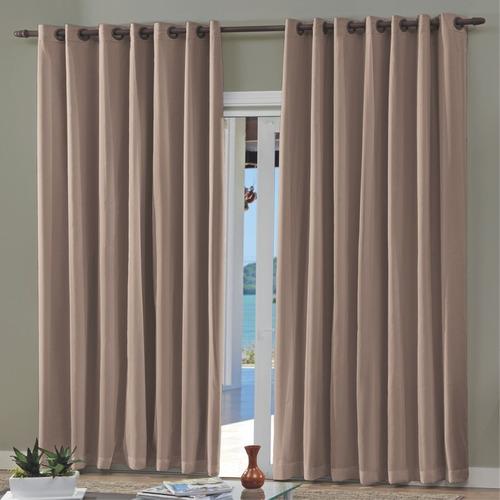 cortina com blackout para varão 300 x 250cm bella janela