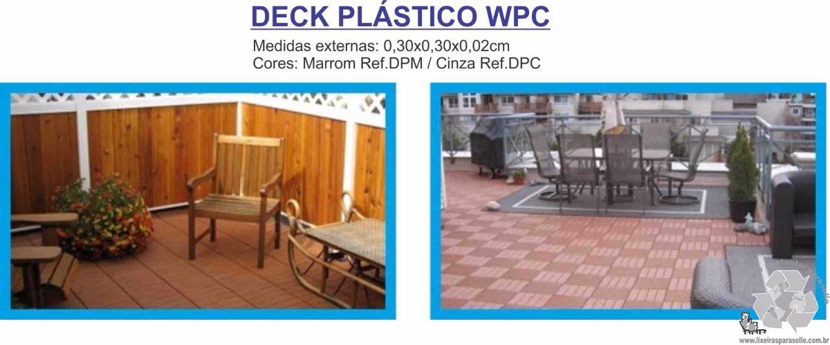 Deck modular 030x030 pl stico piscinas fibra e jardins r for Piscinas e jardins
