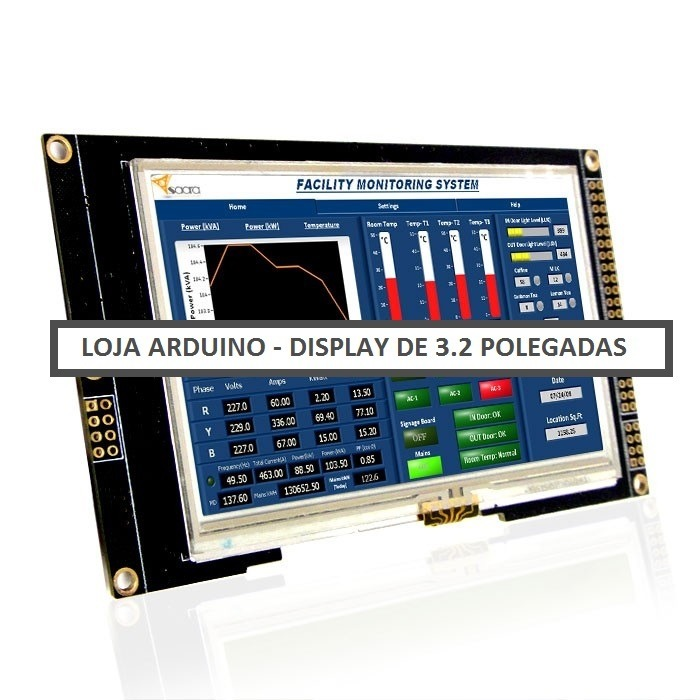 Display lcd touch screen colorida pol arduino
