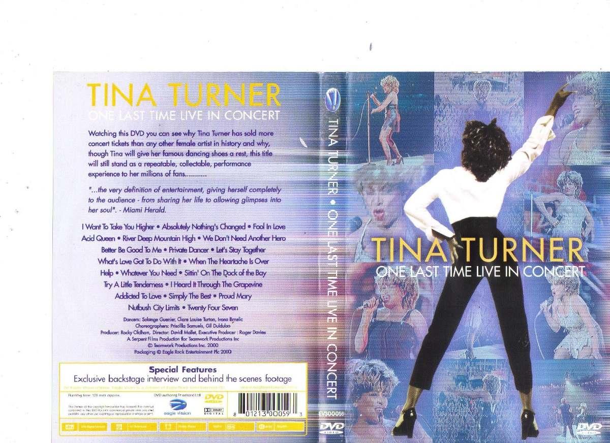 Dvd Tina Turner One Last Time Live In Concert, Original - R$ 9,90 ...