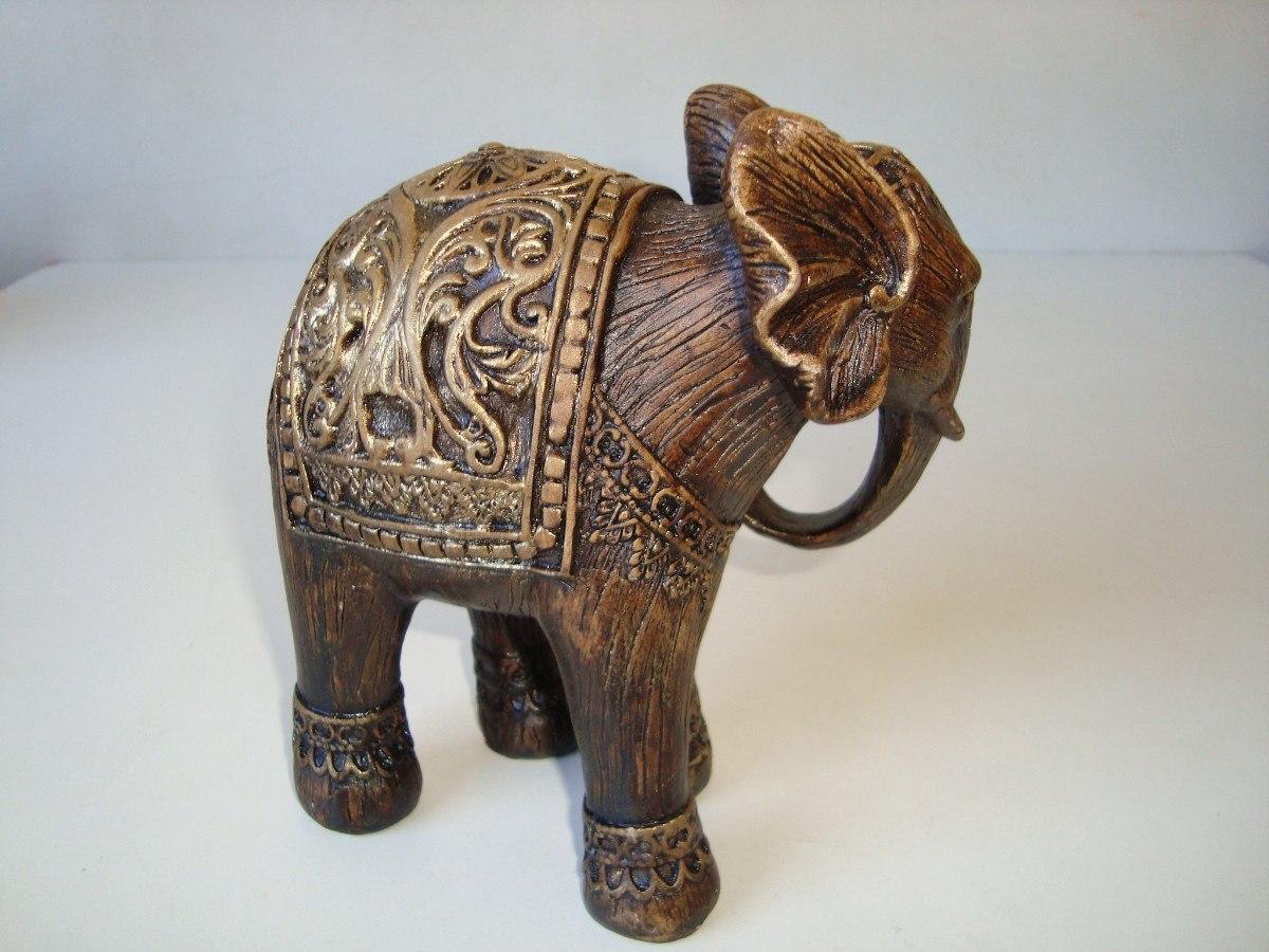 Elefante Indiano Gesso Pátina Pintado G R$ 40 00 em Mercado Livre #634734 1200 900