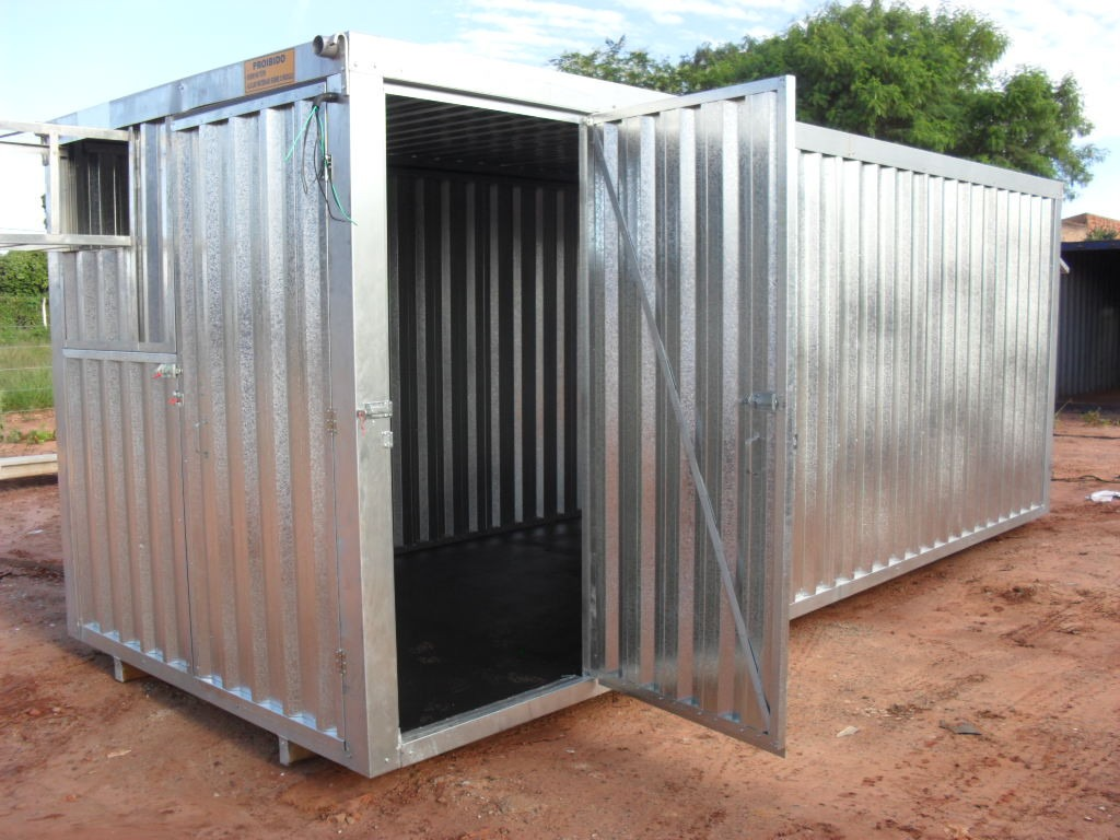 Escritorio Movel Com Banheiro Container R$ 12.300 00 em Mercado  #865B45 1024x768 Banheiro Container Brasilia