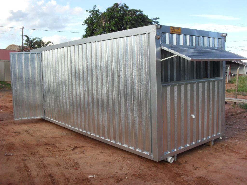 Escritorio Movel Com Banheiro Container R$ 12.300 00 em Mercado  #427989 1024x768 Banheiro Container Brasilia